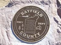 Bayfield County Highway Department Plaque in Stone