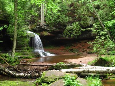 Waterfall in Bayfield County